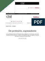 De Profesión, Expresidente _ Ctxt