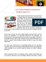 Union Budget and Railway Budget