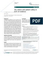 Leadership, safety culture and patient safety in hospitals