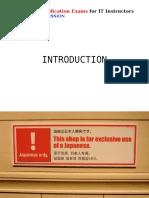 It Passport Training Introduction
