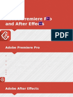 After Effects and Premiere Pro