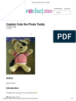 Captain Cute the Pirate Teddy - CrochetMe