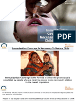 Immunization Coverage Is Necessary To Reduce Child Mortality