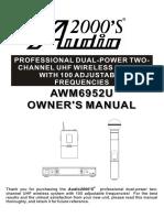 AWM6952U Manual