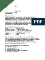 Surat Lamaran Kerja 1