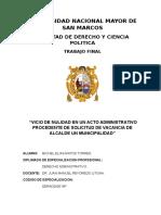 Nulidad Del Acto Administrativo Municipal