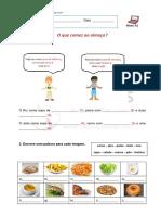 A1 - Vocabulário Alimentos