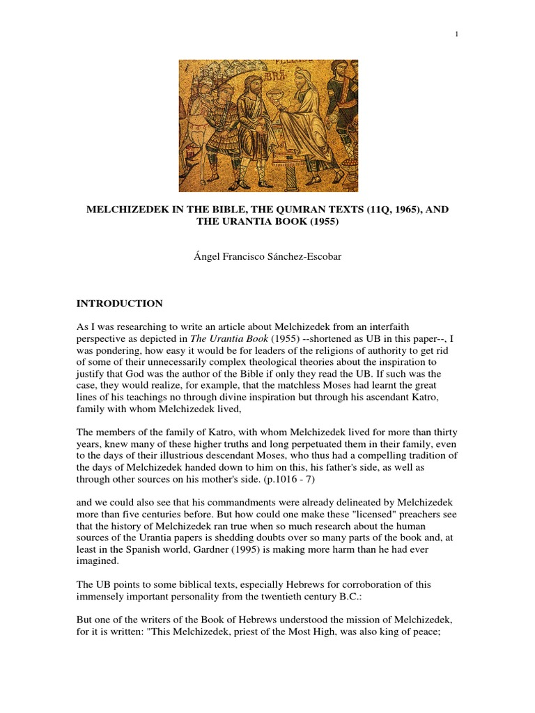 Melchizedek in the Bible, The Qumran Texts (11q, 1965), And