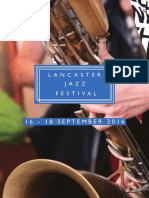 Lancaster Jazz Festival 2016 Brouchure
