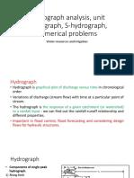 WRI7_8_9_Hydrograph Analysis, Unit Hydrograph, S-hydrograph, Numerical Problems