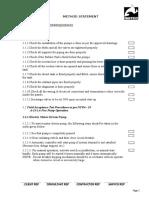 Method Statement of Pumps