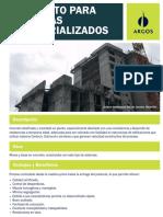 Ficha Tecnica de Concreto Industrializado Argos Placas y Muros