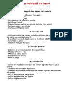 Plan Indicatif Du Cours