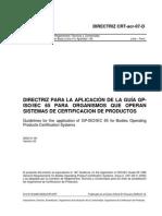 DirectrizAplicacionGuiaGP-ISOIEC65OrganismosSistemasCertificacionProductos