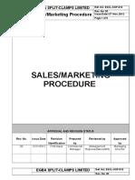 ESCL SOP 010, Sales Marketing Procedue