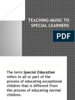 Teaching Music to Special Learners