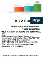 K-12 Music Curriculum