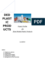Blow Moulded Plastic Products Project Profile