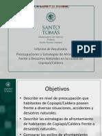 Encuesta Santo Tomas desastres naturales