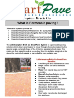 SMARTPAVE Permeable Paving System by Littlehampton Brick