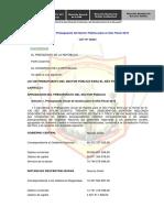 LEY Nº 30281 Ley de Presupuesto Del Sector Público Para El Año Fiscal 2015