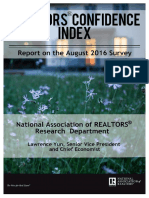 REALTORS® Confidence Index August 2016
