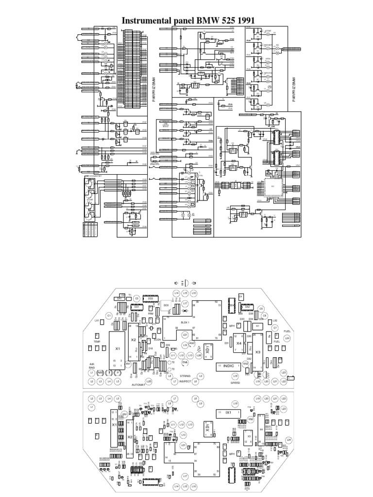 mapa o diagrama electrico de bmw 525i 1991