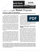 Active Labor Market Programs_Evidence From Evaluations - World Bank