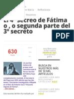 El 4º secreo de Fátima o , o segunda parte del 3º secreto » Foros de la Virgen María.pdf