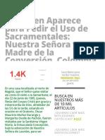 La Virgen Aparece para Pedir el Uso de Sacramentales_ Nuestra Señora y Madre de la Conversión, Colombia (22 de junio) » Foros de la Virgen María.pdf