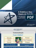 A Didática e Seu Objeto de Estudo