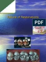 Chp 8.1,6 Failure of Restorations