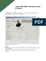 Implicit Enhancement in SAP ABAP ( New Enhancement Framework ) With Tutorial