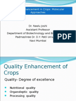 Quality Enhancement of Crops
