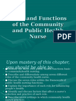 Roles and Functions of the Community Health Nurse