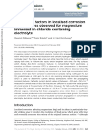 Controlling Factors in Localised Corrosion