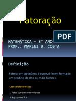 Matemática   Fatoração 8° ANO - Apresentação