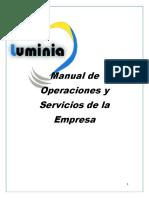 Manual de Operaciones y Servicios de La Empresa