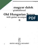 Regi Magyar Dalok Gitarkiserettel