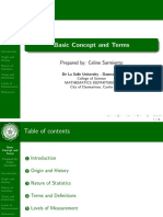 Engineering Probability and Statistic Basic Concept and Terms