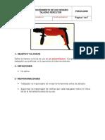 Procedimiento Uso Seguro Taladro Percutor REV 0