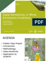 Data Sensitivity in Minig Emision inventories