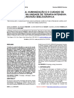 Tecnologias, Humanização e o Cuidado de Enfermagem Na UTI - Uma Revisão Bibliográfica