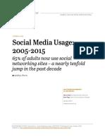 Microsoft Word - Social Networking Usage 2005 2015 FINAL 100615