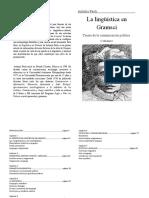 La Linguistica en Gramsci Antonio Paoli