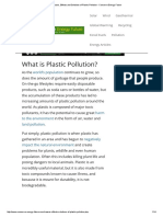 Causes, Effects and Solutions of Plastic Pollution - Conserve Energy Future