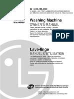 LG Dishwasher WM3431H Manual