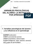 Variables Psicologicas Motivacion Escolar
