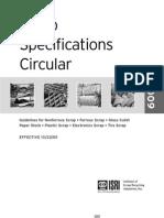 Scrap Specifications Circular