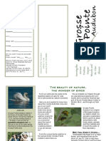 Grosse Pointe Audubon Membership Brochure 2016